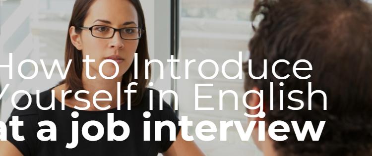 להציג את עצמך בראיון עבודה באנגלית