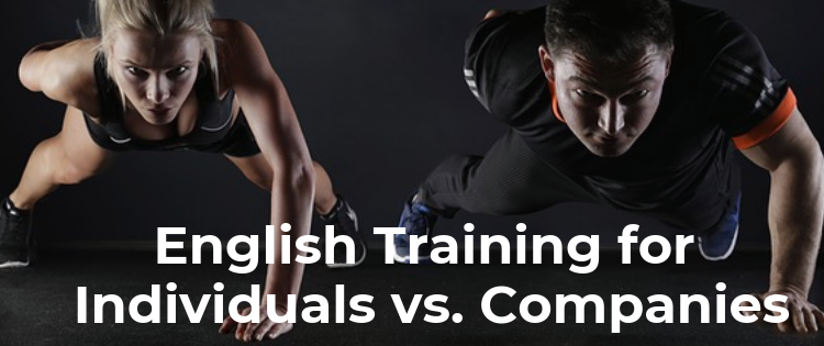 English Training for Individuals vs. for Companies